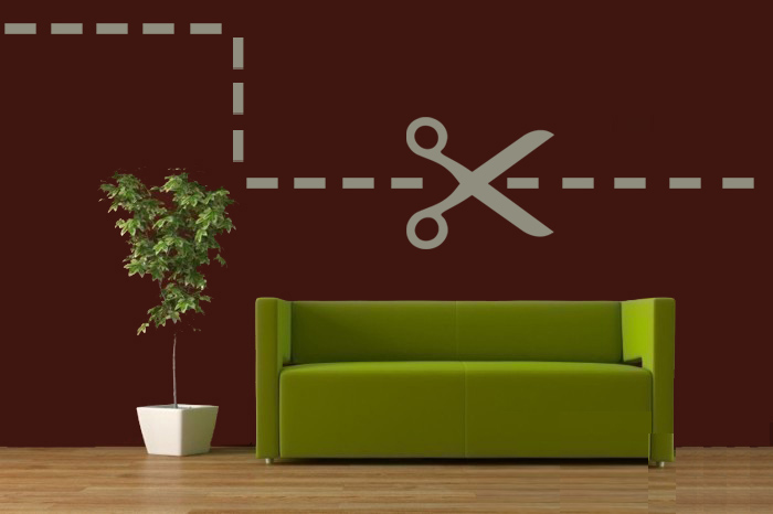Modern Scissor Wall Decal